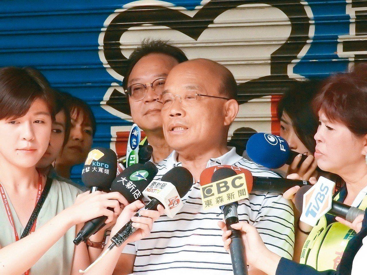 民進黨新北市長參選人蘇貞昌表示,台灣好不容易才有促進轉型正義的機制,官員(指張天...