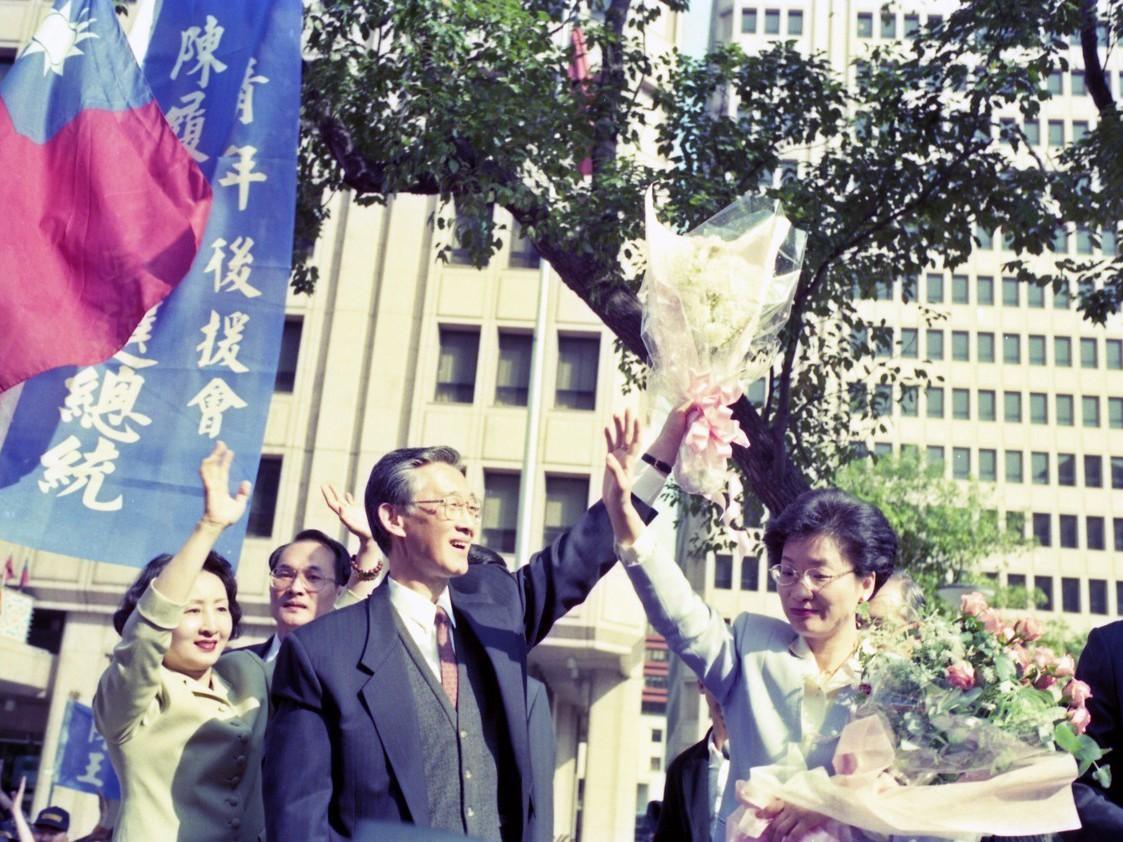 陳履安在1996年脫離國民黨,與王清峰搭檔參選正副總統。圖/聯合報系資料照片