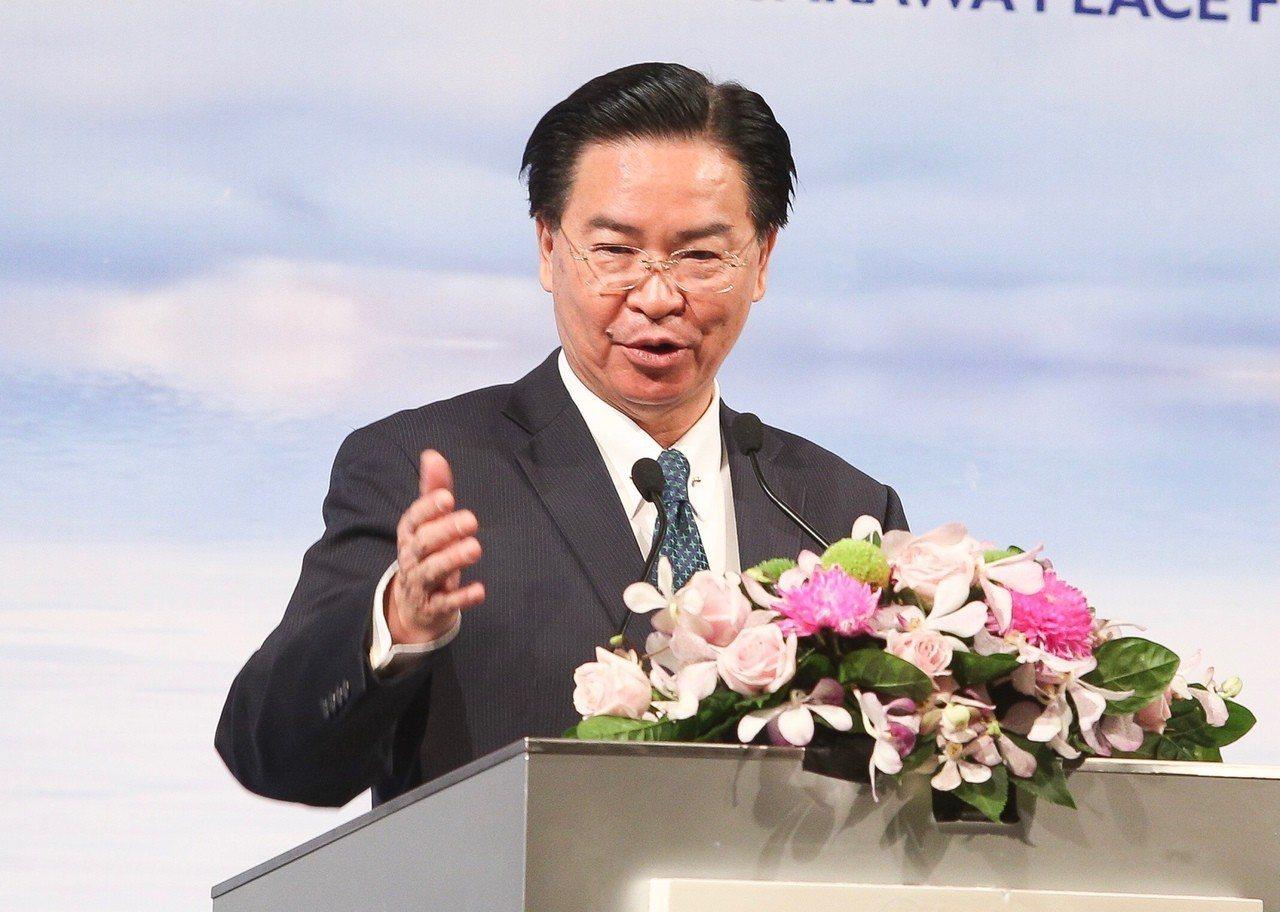 外交部長吳釗燮。 中央社