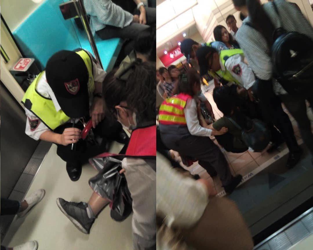 網友分享在捷運站親眼目睹的高效救援行動,表示「支援救傷行動訓練有素,完全沒有耽延...