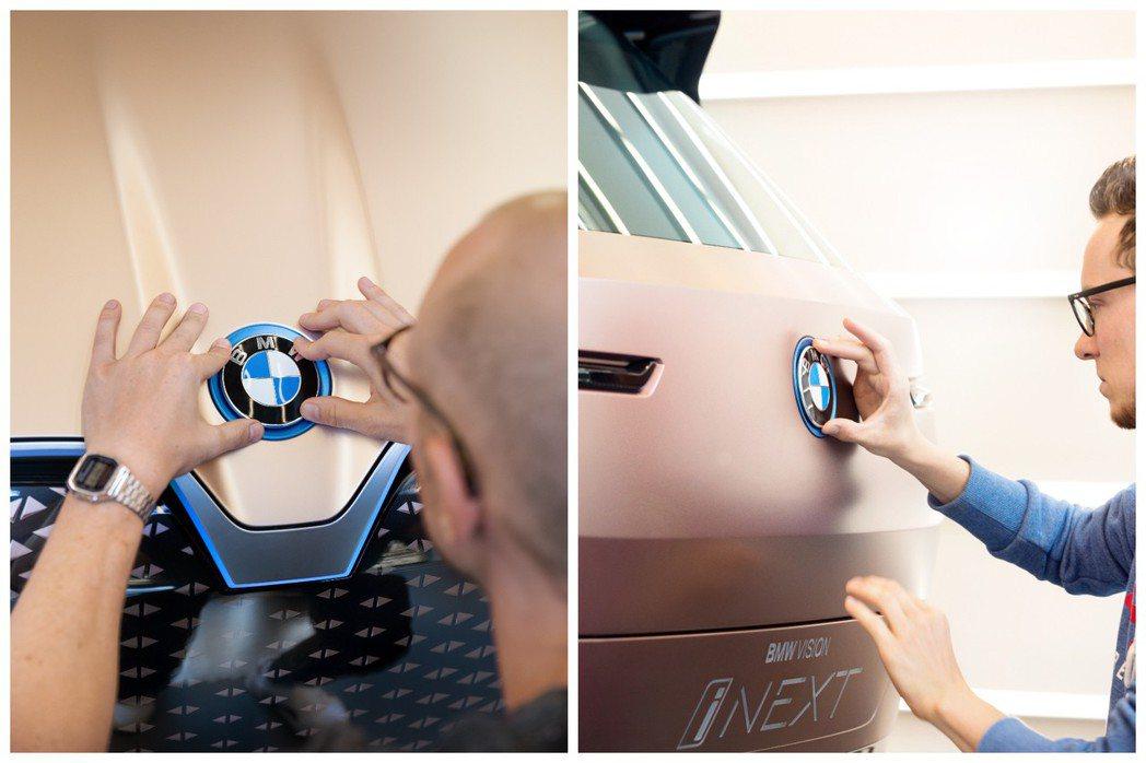 BMW Vision iNext局部頭尾細節。 摘自BMW