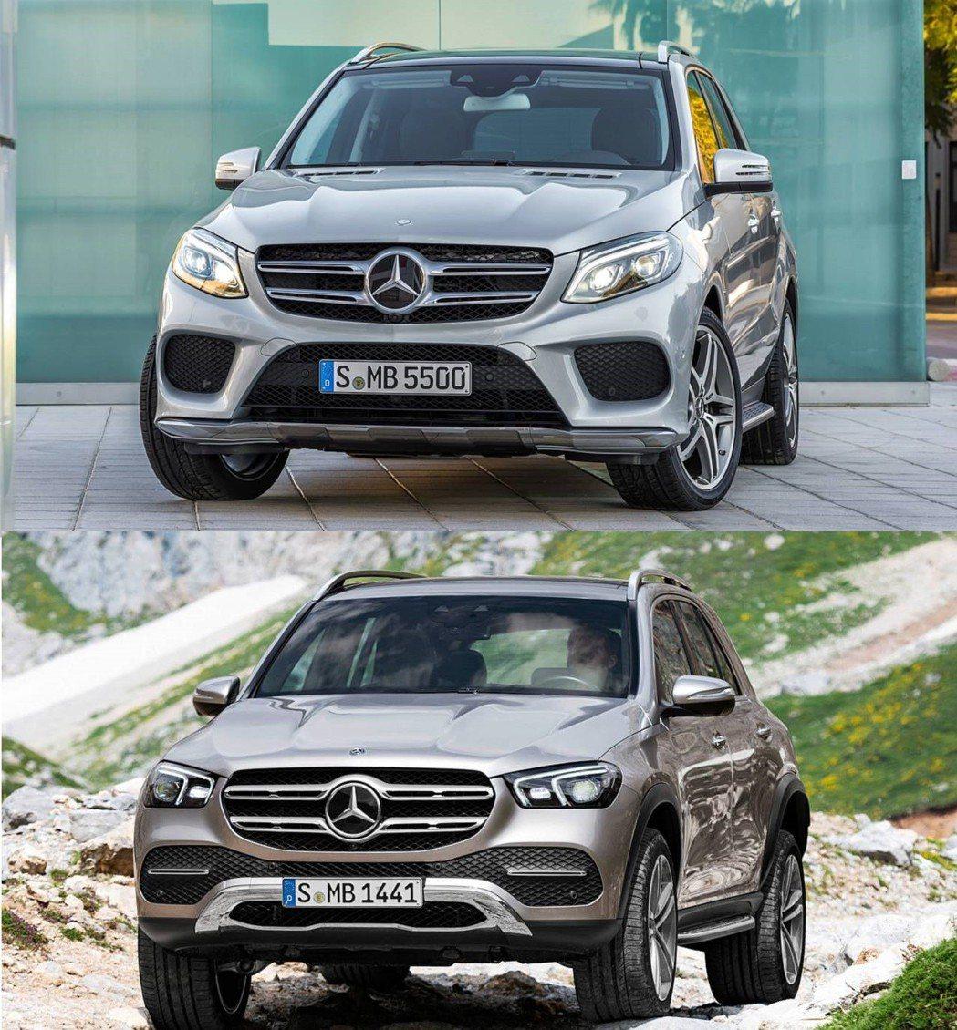 上:前一代GLE車頭 下:改款後GLE車頭。  摘自Mercedes