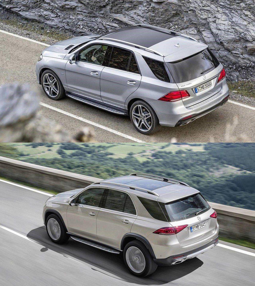 上:前一代GLE車尾 下:改款後GLE車尾。 摘自Mercedes