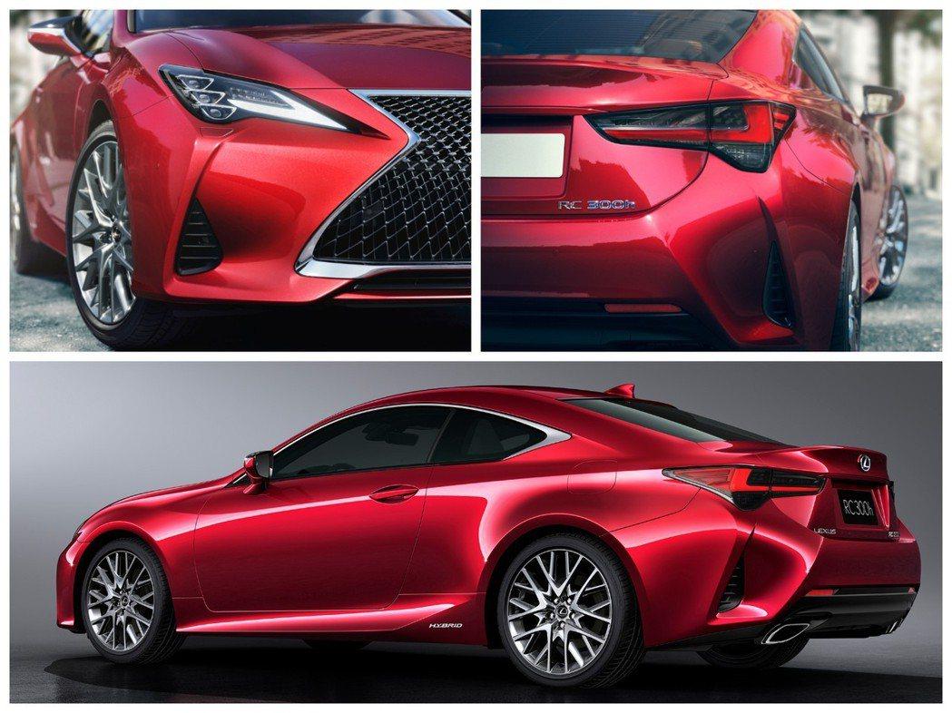 小改款Lexus RC。 摘自Lexus