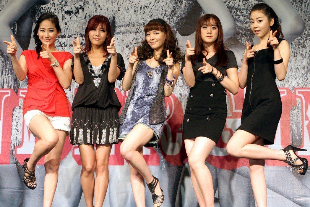 WONDER GIRLS 2010年時來台。圖/聯合報系資料照