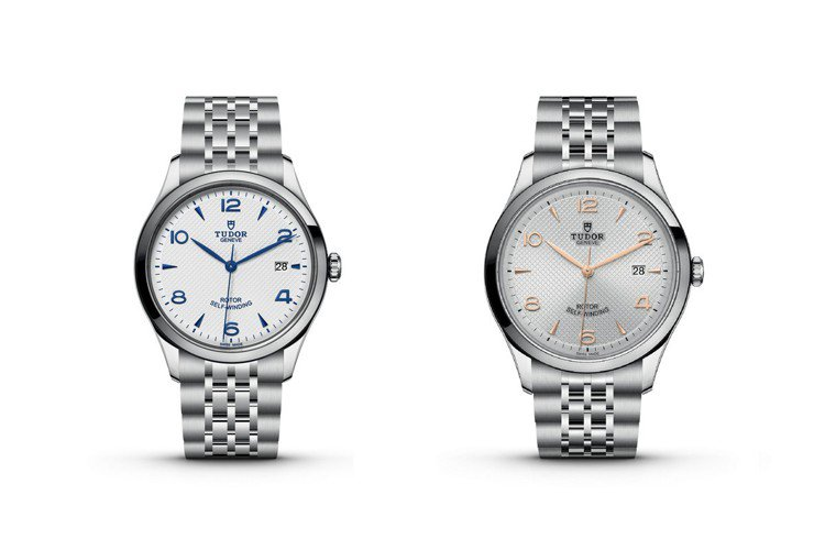 1926系列錶面中央點綴精緻的浮雕飾紋,錶面有銀色、蛋白色和黑色,棱面箭頭形鐘點...