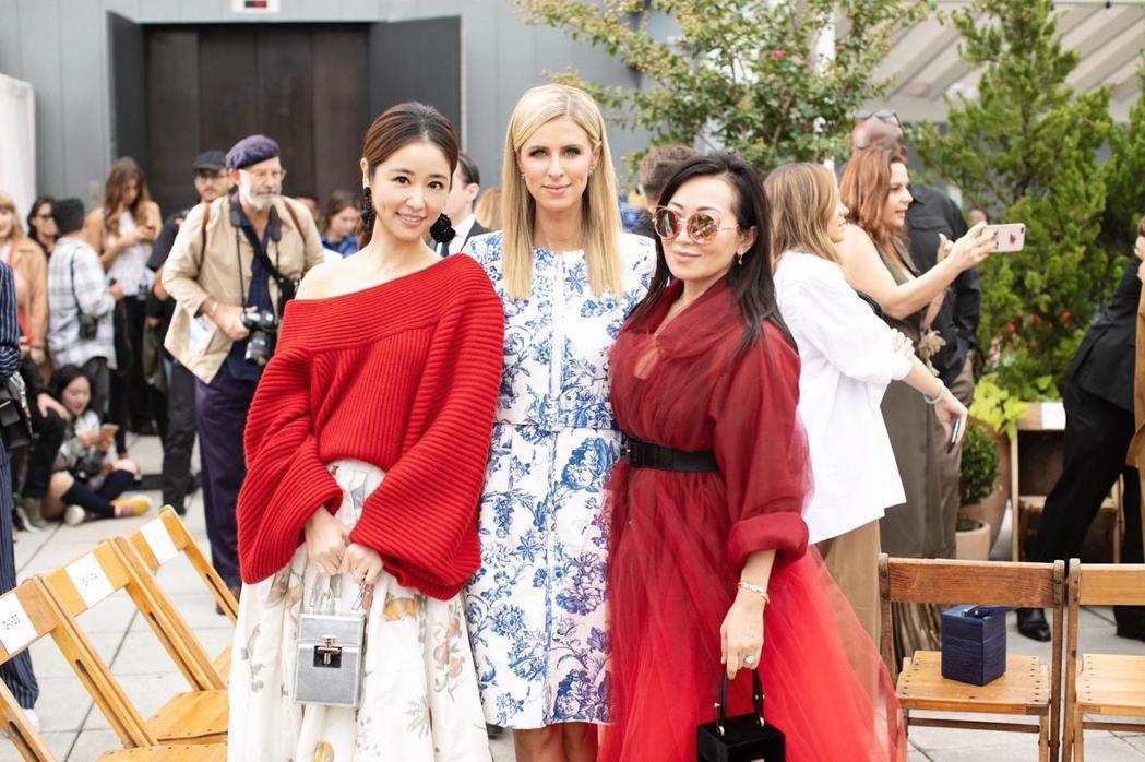 林心如(左)成為品牌唯一受邀亞洲藝人。圖/林心如工作室提供