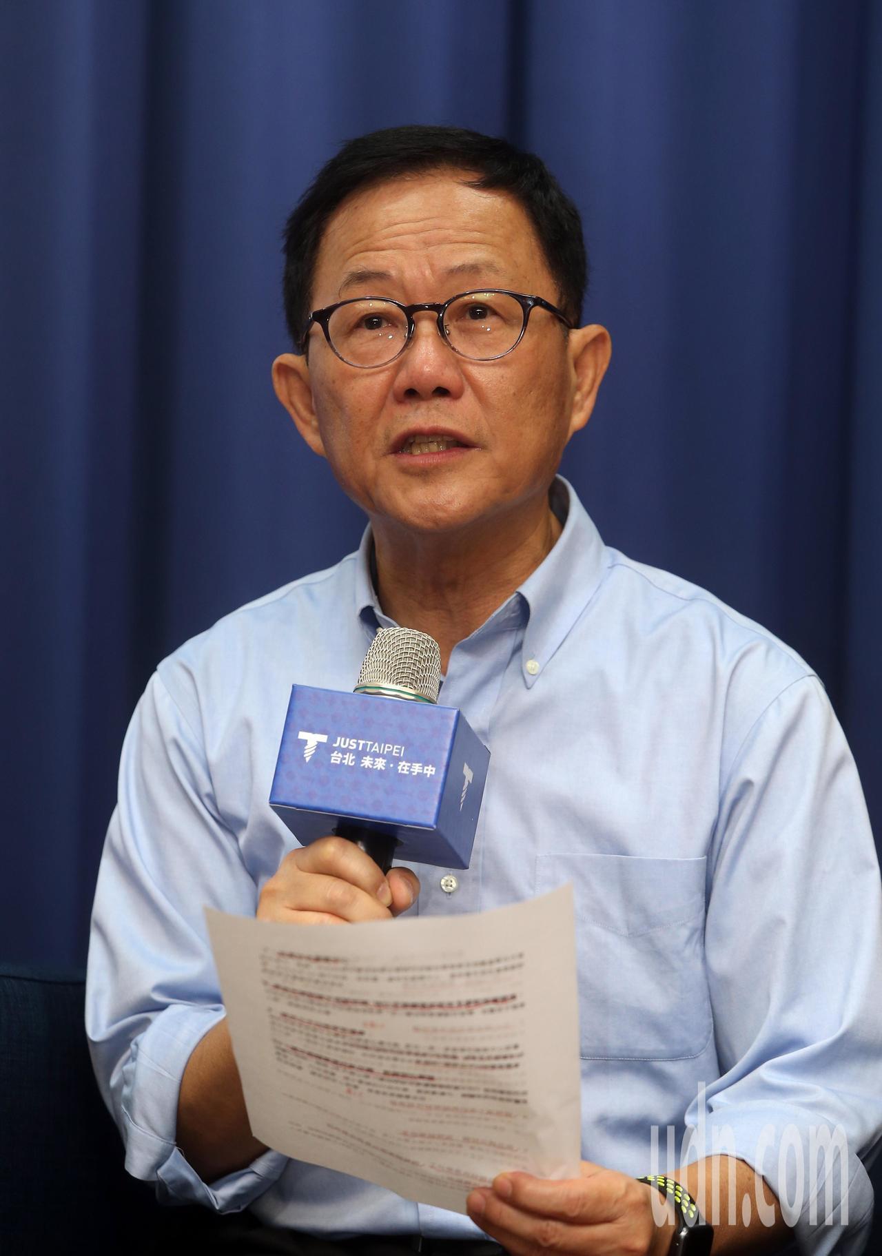 國民黨台北市長參選人丁守中上午舉行教育政策記者會,公布10大教育政策。記者曾吉松...