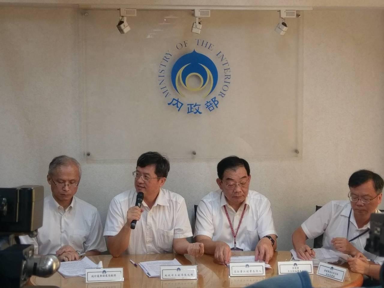 內政部地政司副司長王成機(左二)。記者徐偉真/攝影