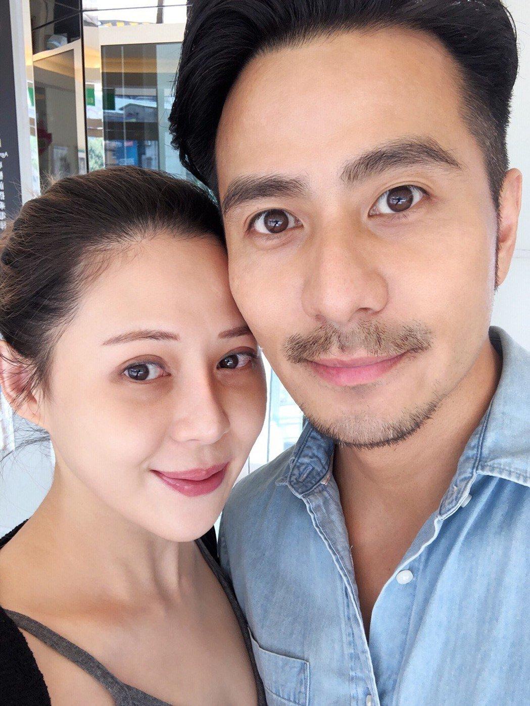郭彥甫(右)和庭庭結婚四年  圖/郭彥甫提供