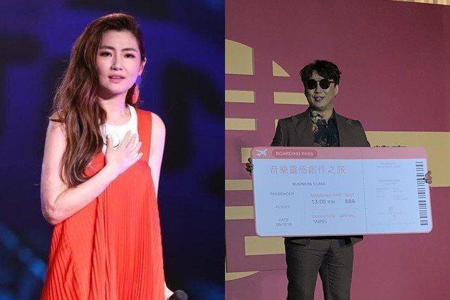 蕭煌奇(右)推薦Selina參與十大傑出青年。圖/記者林士傑攝影