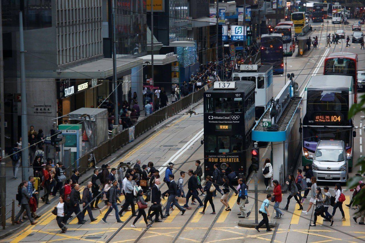 香港街道。路透