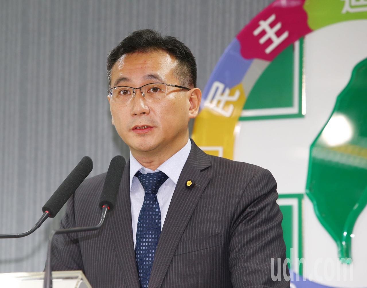民進黨立委鄭運鵬。聯合報系記者陳柏亨/攝影