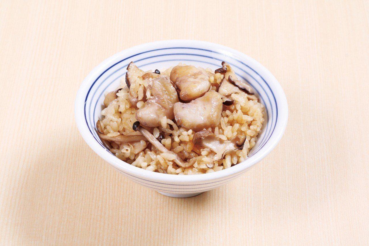 紅菱蕈菇飯,每份45元起。圖/東元餐飲集團提供