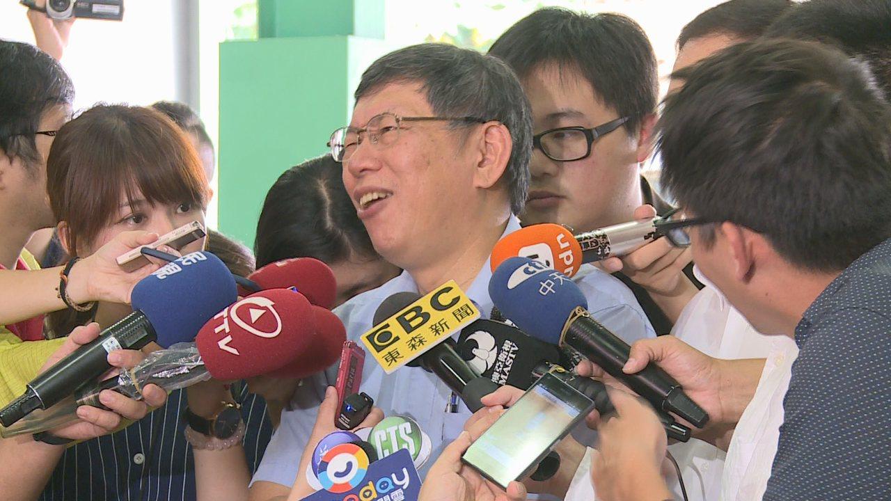 台北市長柯文哲今天(12日)中午受訪時表示,姚文智的「王八蛋說」是失言,聽也知道...