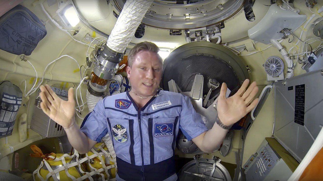 俄羅斯航太公司10日公布影片,由駐國際太空站的俄羅斯太空人普羅科皮耶夫親自展示及...