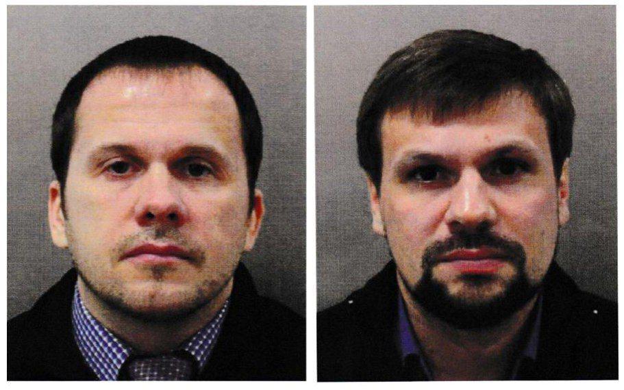 英國政府指控,在俄國軍情總局工作的裴卓夫(左)和波希洛夫(右)就是犯下毒殺未遂案...