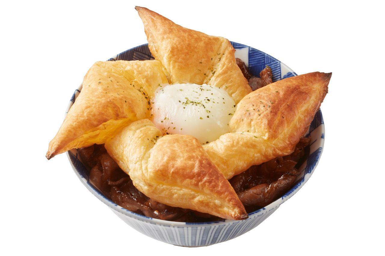 運用酥皮濃湯概念的法式千層燒肉丼。圖/開丼提供