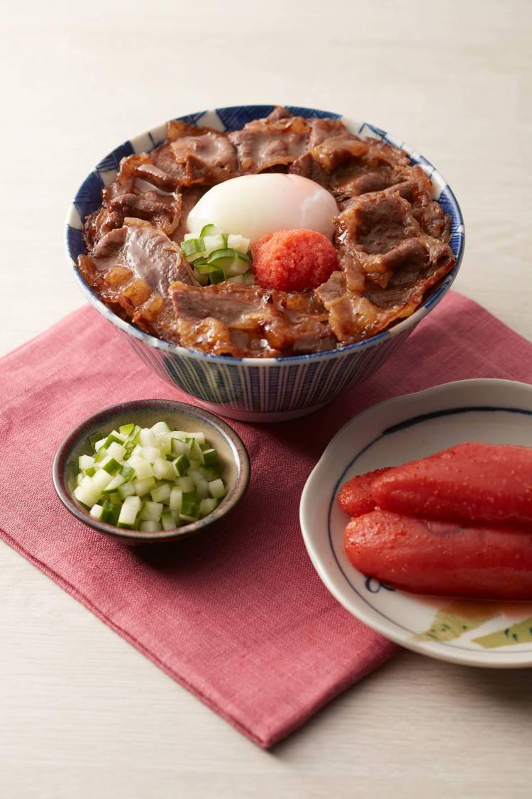 明太子燒肉丼帶有鮮明的日式色彩。圖/開丼提供