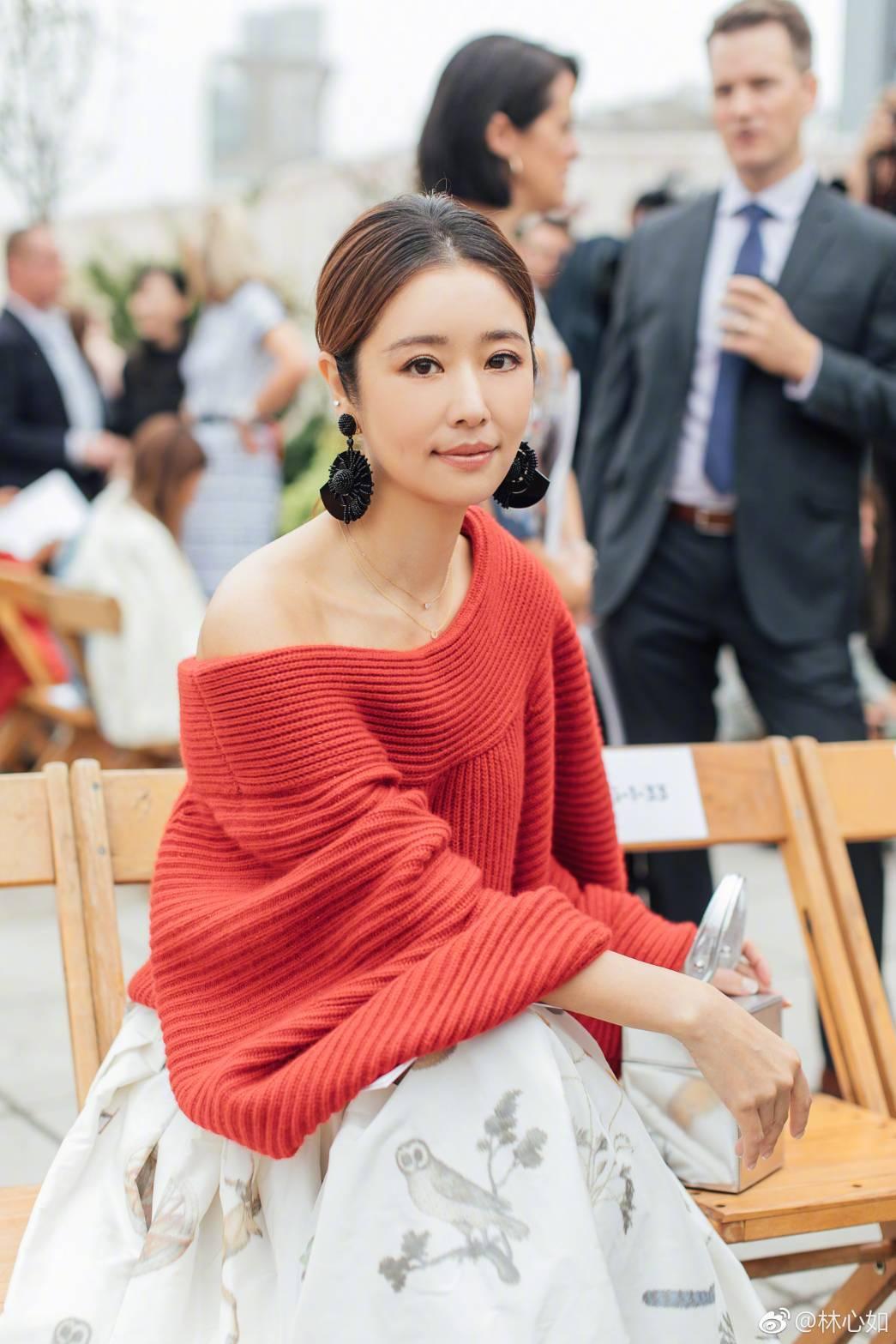 林心如受品牌之邀赴紐約出席時裝周。圖/摘自微博