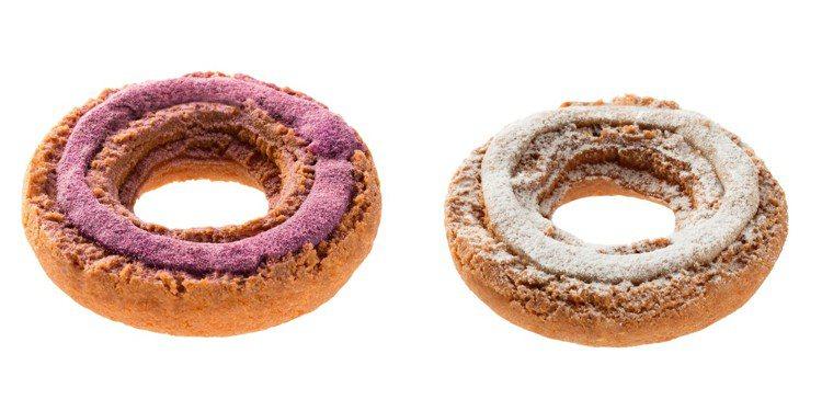 烤紫薯歐菲香、烤栗子歐菲香,每個售價45元。圖/Mister Donut提供