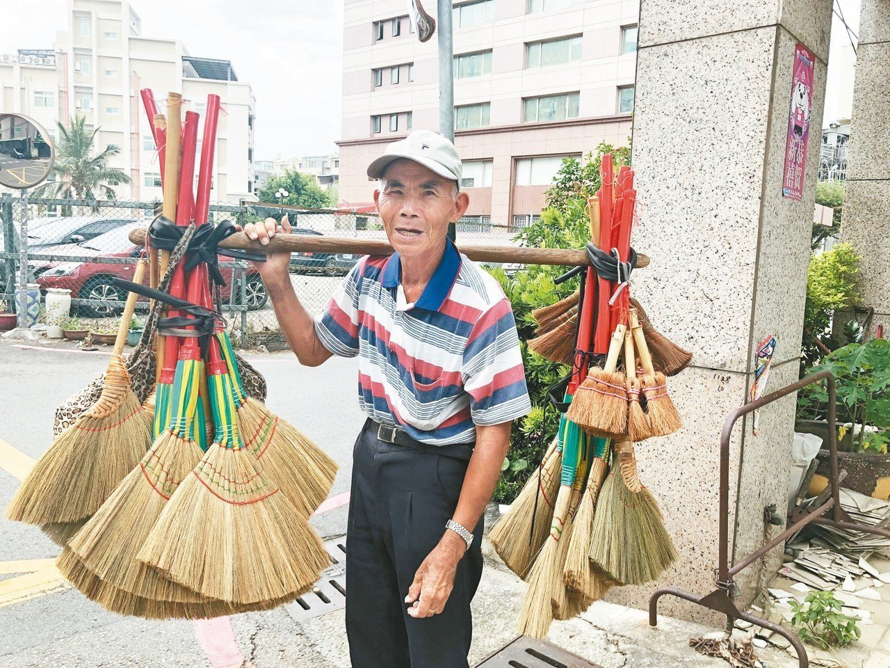 80歲陳哲男前天出現在彰化市阿夷里。 記者林敬家/攝影