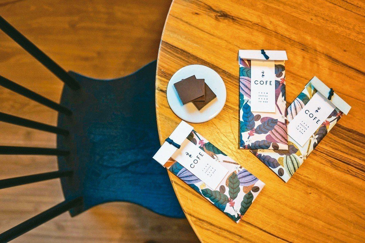 COFE看起來像黑巧克力,卻是「喫的咖啡」! 圖/LIZ提供