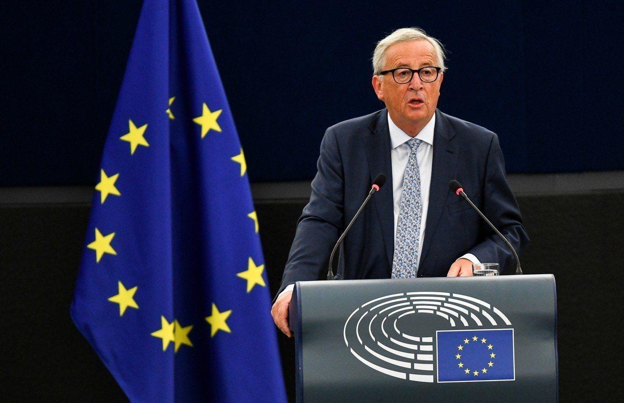 歐盟執委會主席容克。(歐新社)