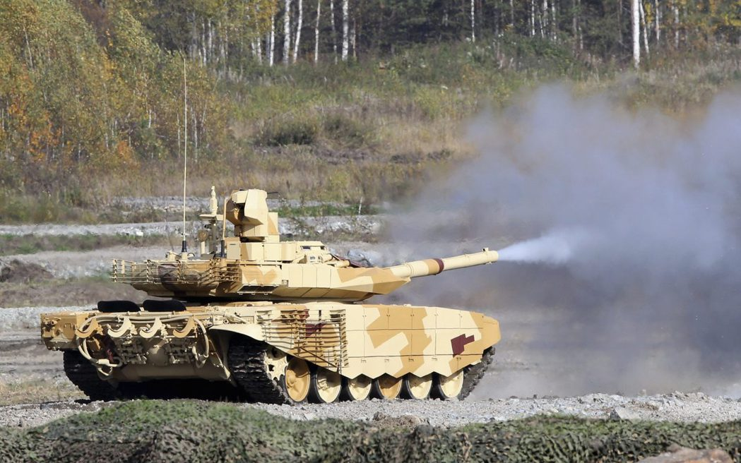 俄國T-90戰車。 (路透)