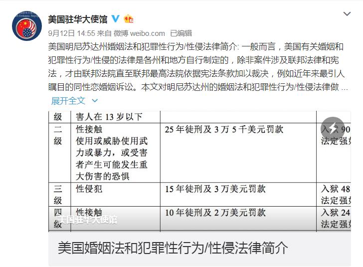 劉強東案撲朔迷離,美駐華使館罕見發聲。圖/擷自多維新聞網