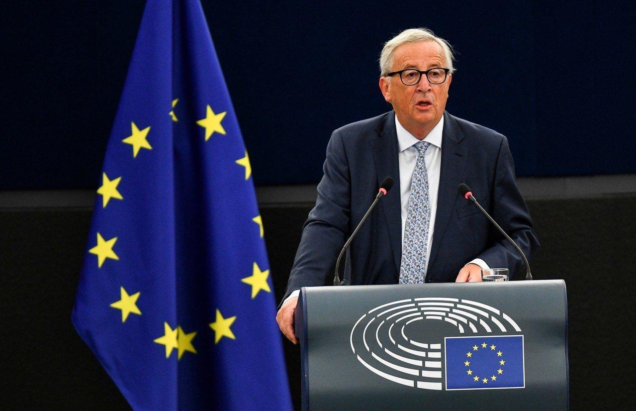 容克促歐盟,增兵邊防擋難民。 歐新社
