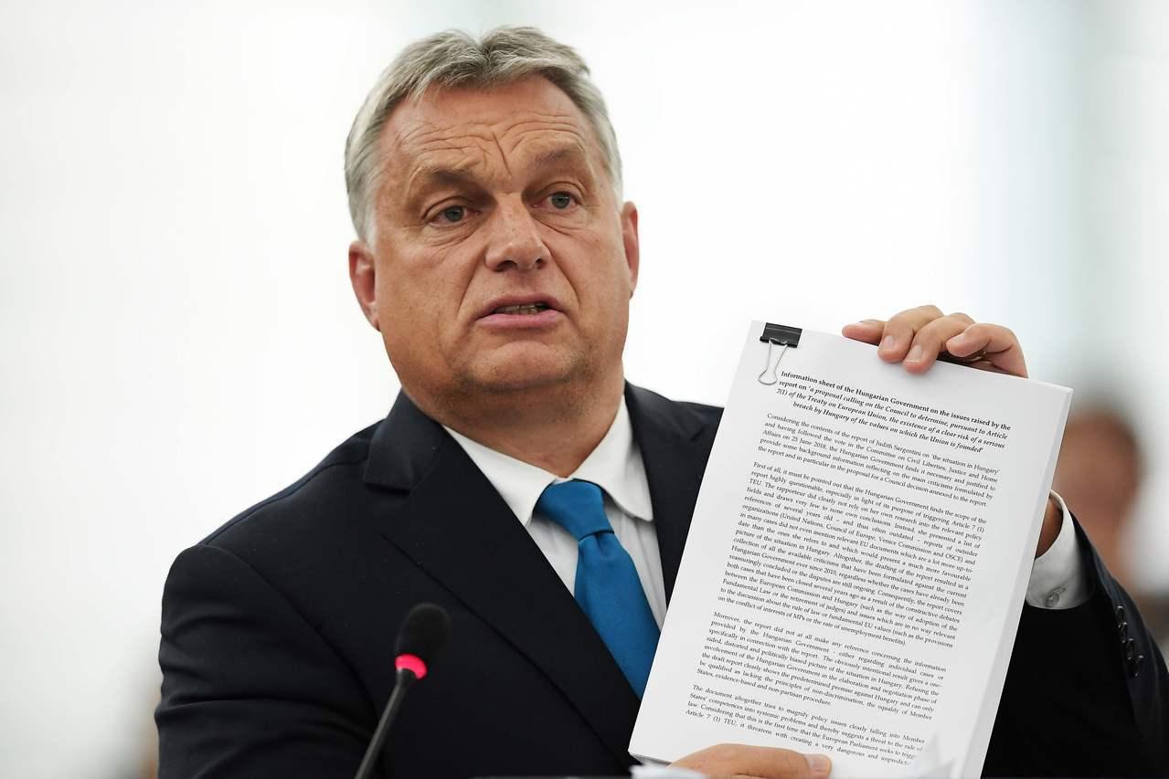 匈牙利打壓少數族裔,歐盟通過懲處。 法新社