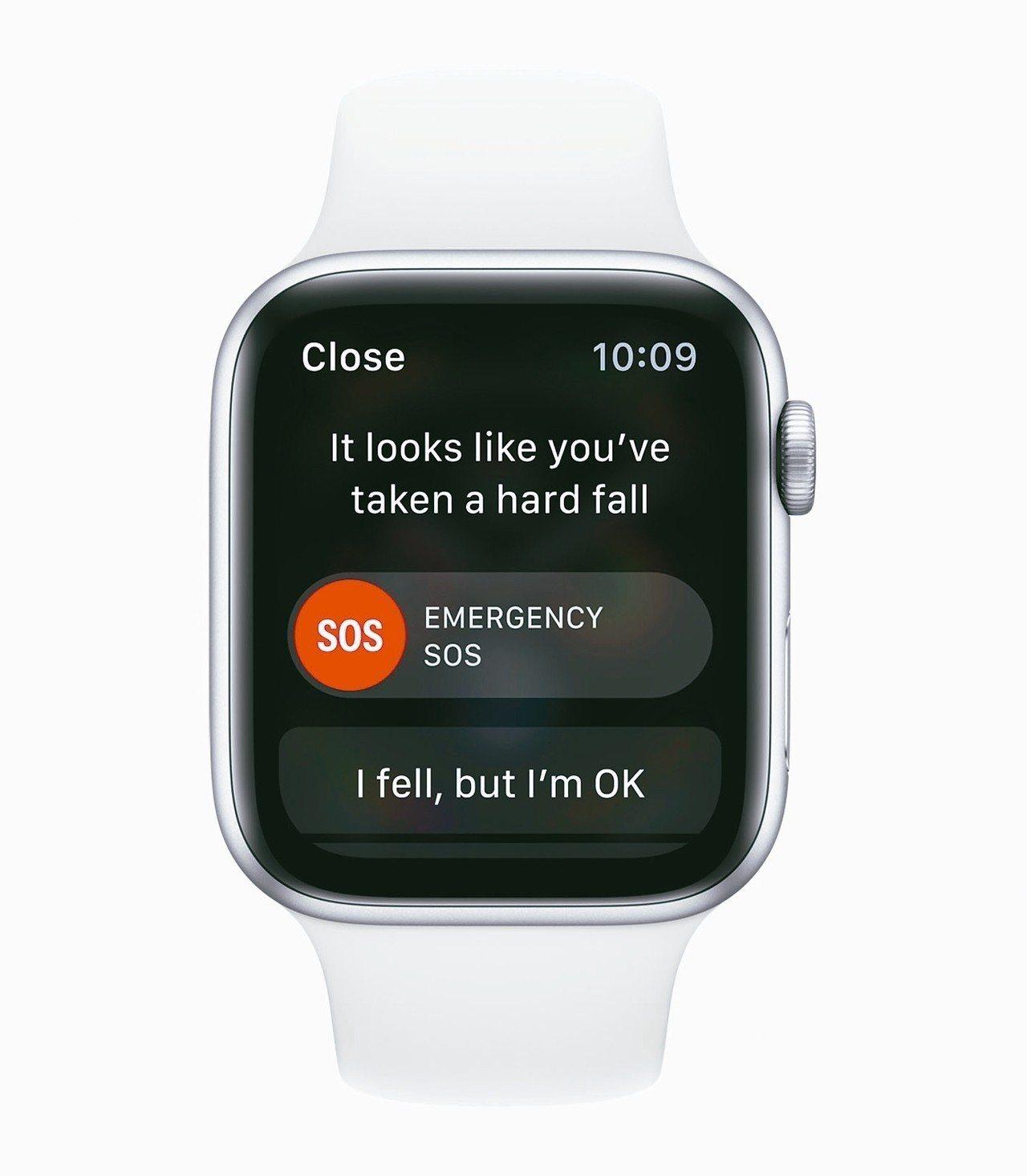 Apple Watch連穿戴者跌倒都可以順利偵測。 歐新社