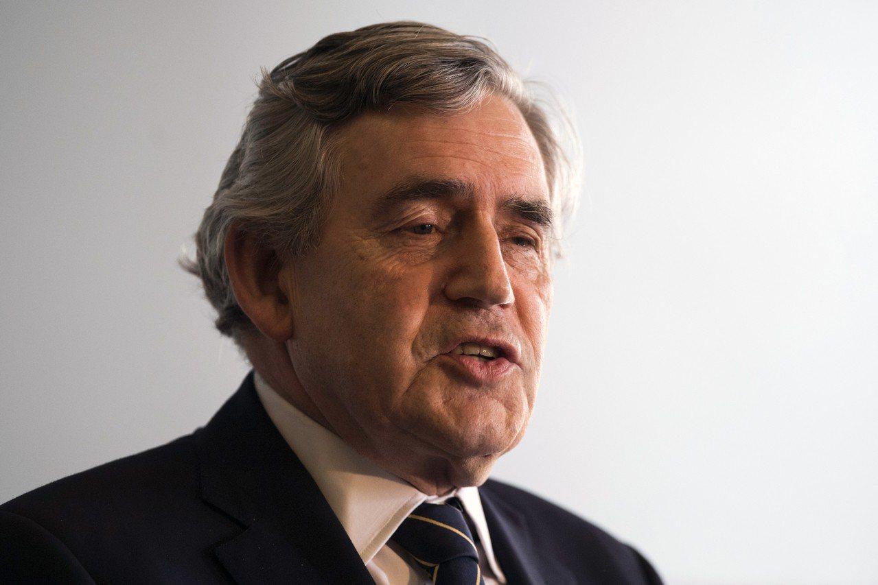 英國前首相布朗(Gordon Brown)。 歐新社