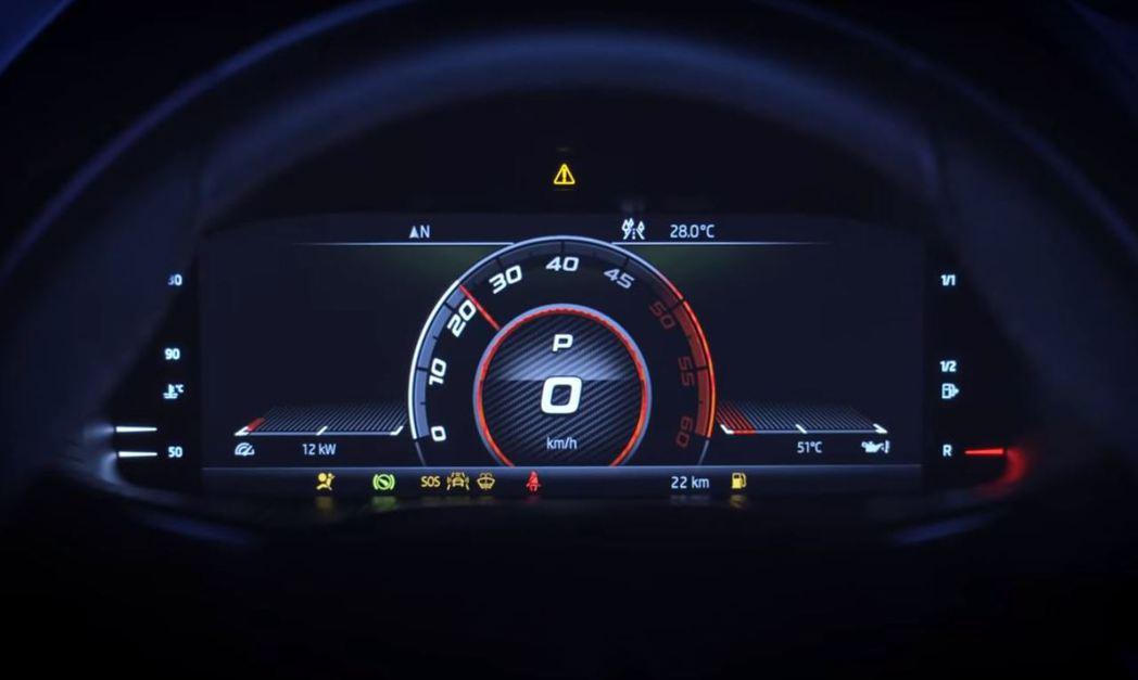 Kodiaq RS搭載可調式虛擬座艙儀表板,能配合模式切換。 摘自Škoda