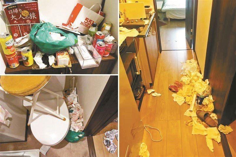 三名女陸客入住日本民宿,房間走廊(右圖)、櫃子(左上圖)和廁所(左下圖)宛如「被...