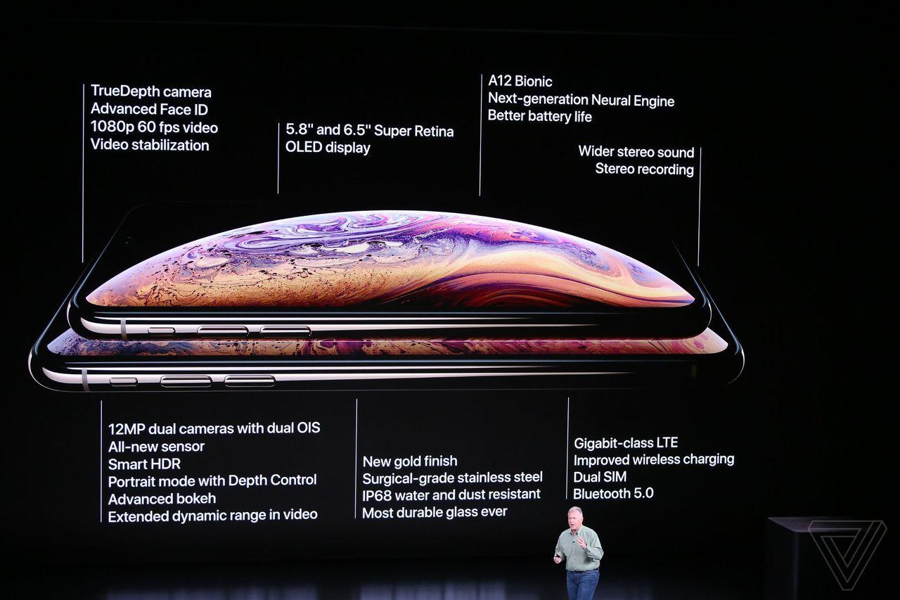 iPhone Xs系列手機主要規格(圖/取自網路)
