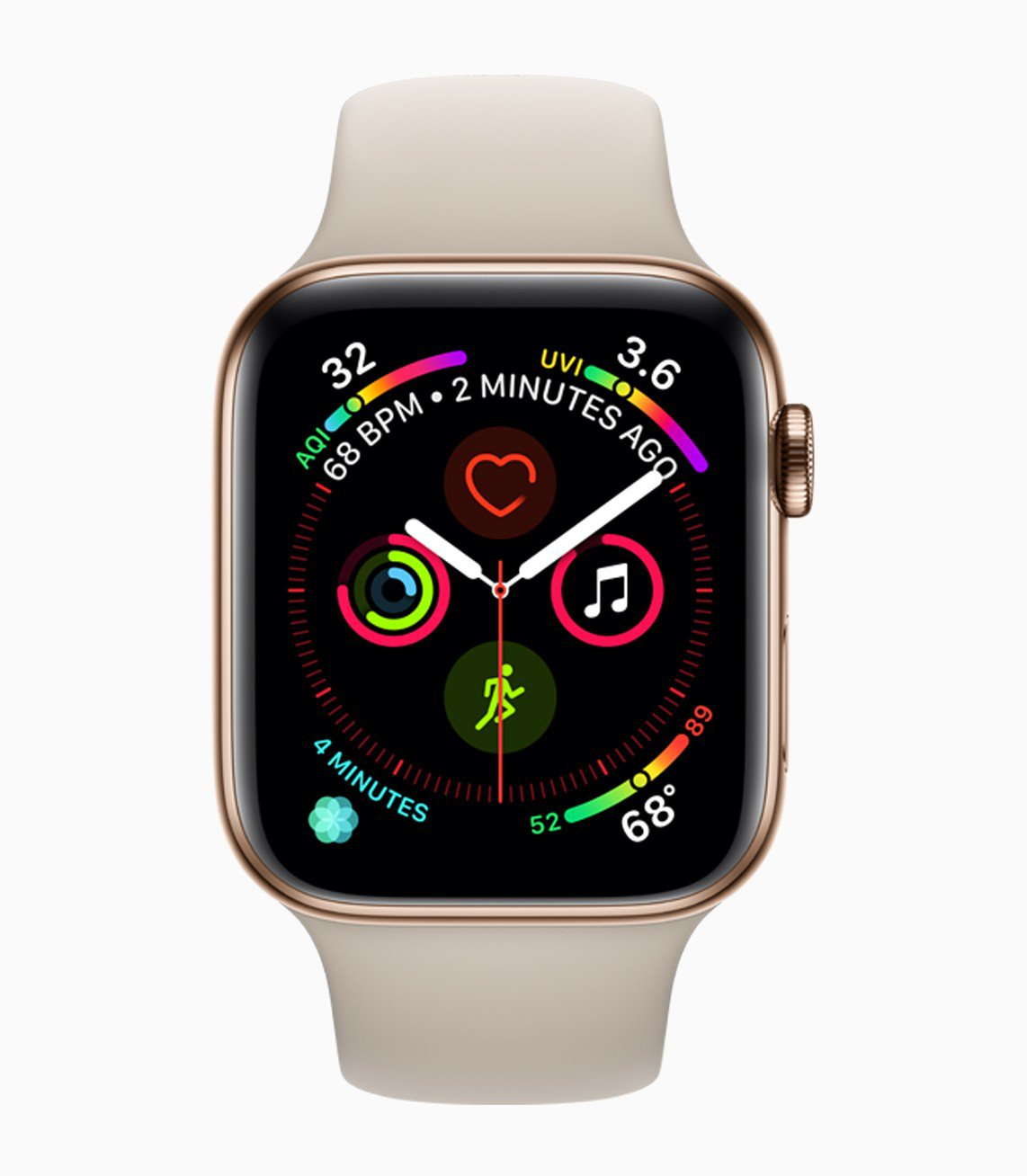 Apple Watch Series 4配備歷年來Apple Watch最大的顯...