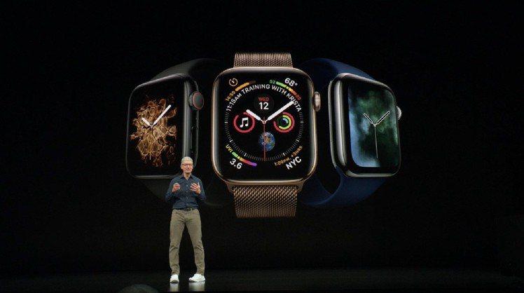 今年Apple秋季新品發表會由Apple Watch Series 4打頭陣。圖...
