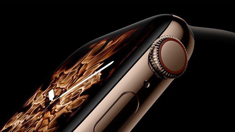 Apple Watch Series 4的數位表冠具備觸覺回饋功能。圖/摘自Ap...