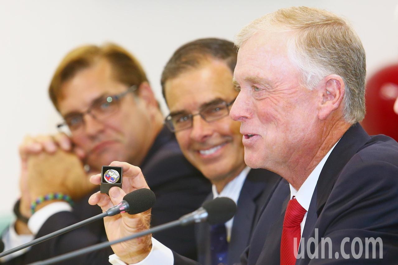 美國前副總統奎爾多次訪台。聯合報系資料照/記者王騰毅攝影