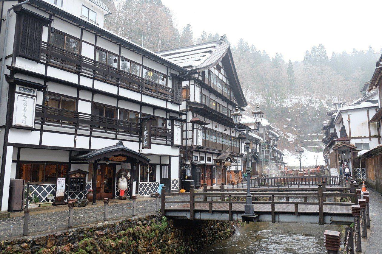 日本銀山溫泉。圖/雄獅旅遊提供