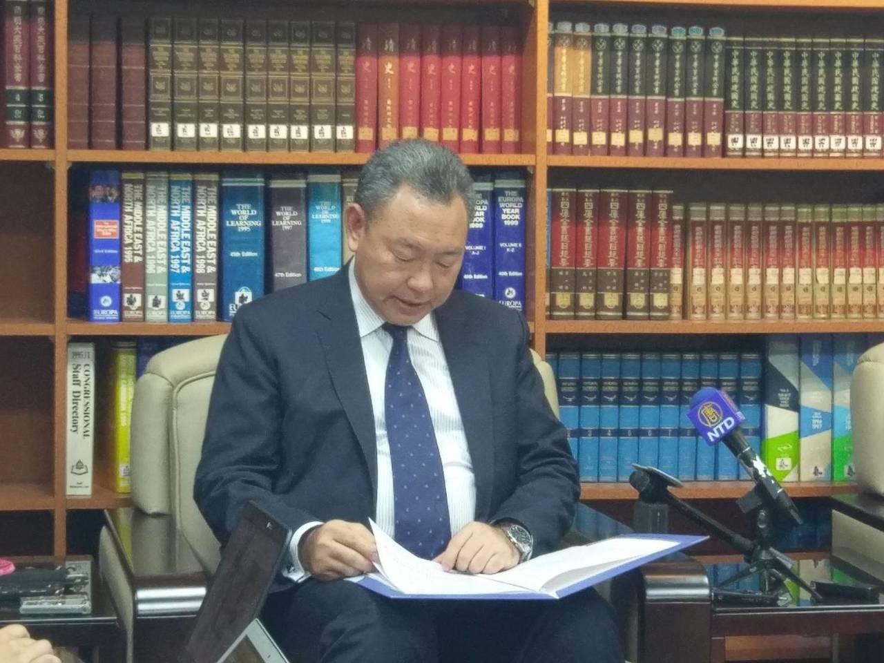 外交部拉美司司長俞大㵢。記者徐偉真/攝影