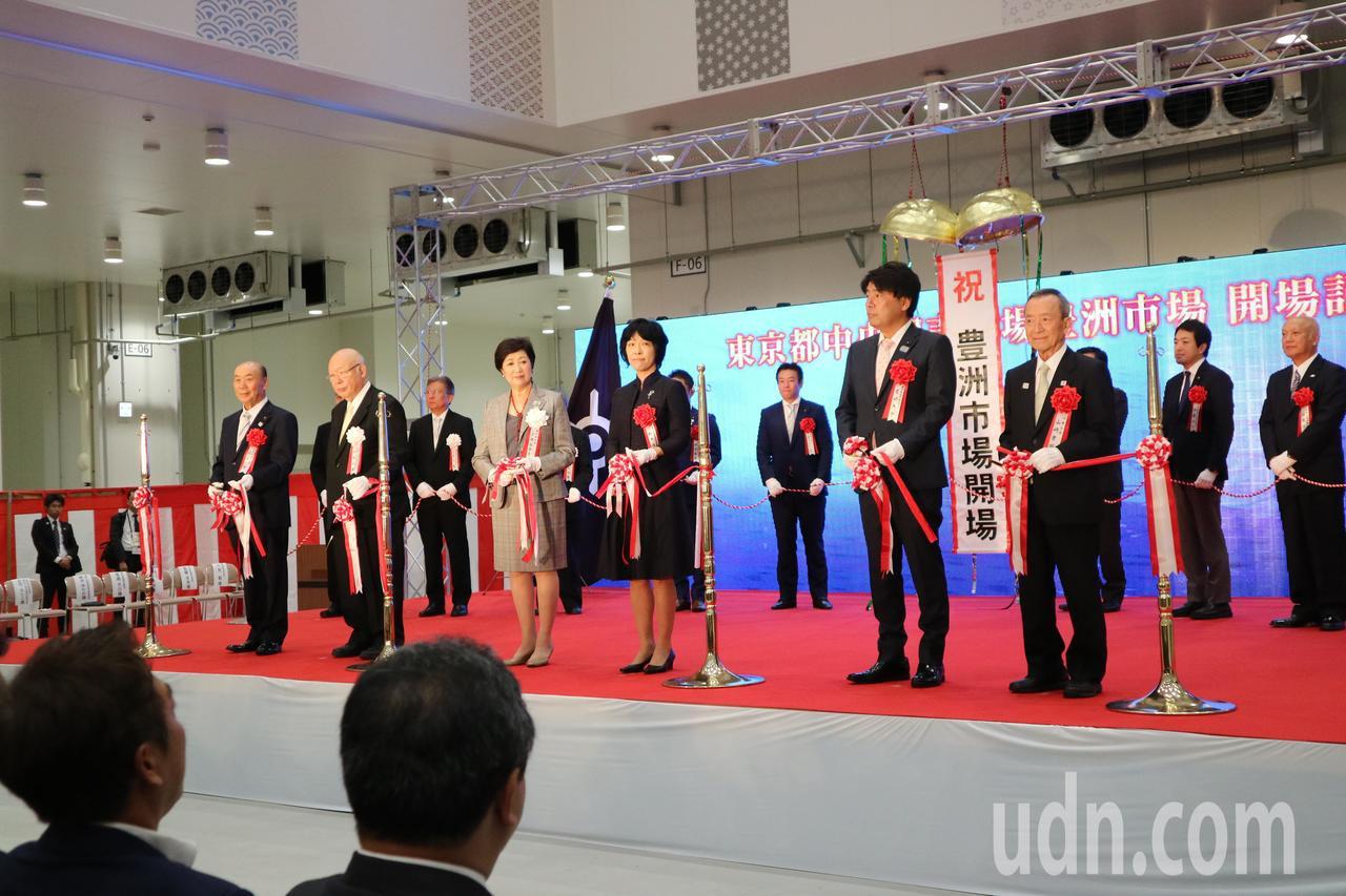 豐州市場今舉行啟用典禮,典禮過後業者才能夠正式進駐為開市做準備。東京記者蔡佩芳/...