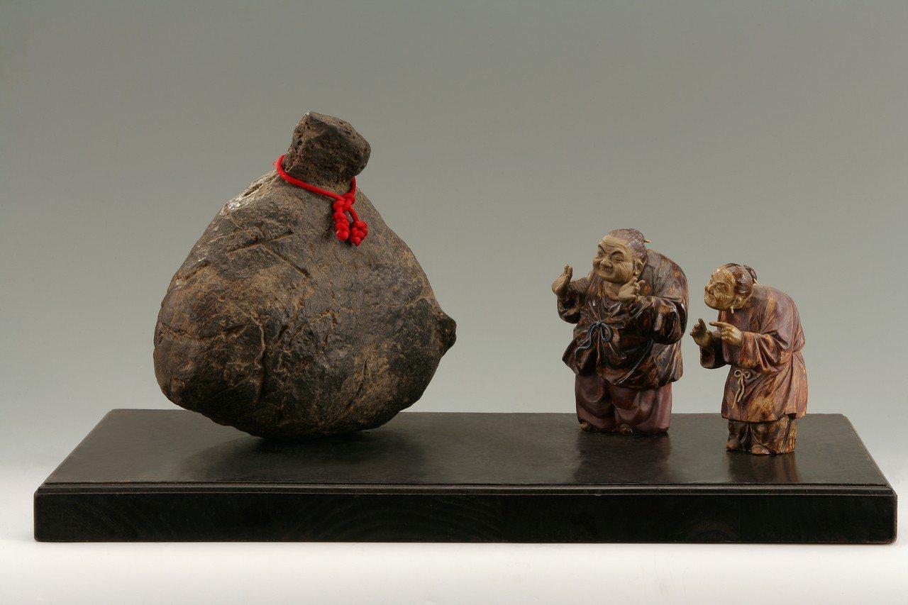 陳國光醫師的澎湖黑石「當我老了」。圖/八風禪石會提供