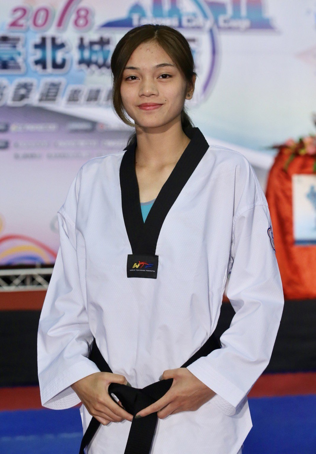 亞運新科金牌蘇柏亞擔任台北城市盃跆拳道邀請賽代言人。記者許正宏/攝影