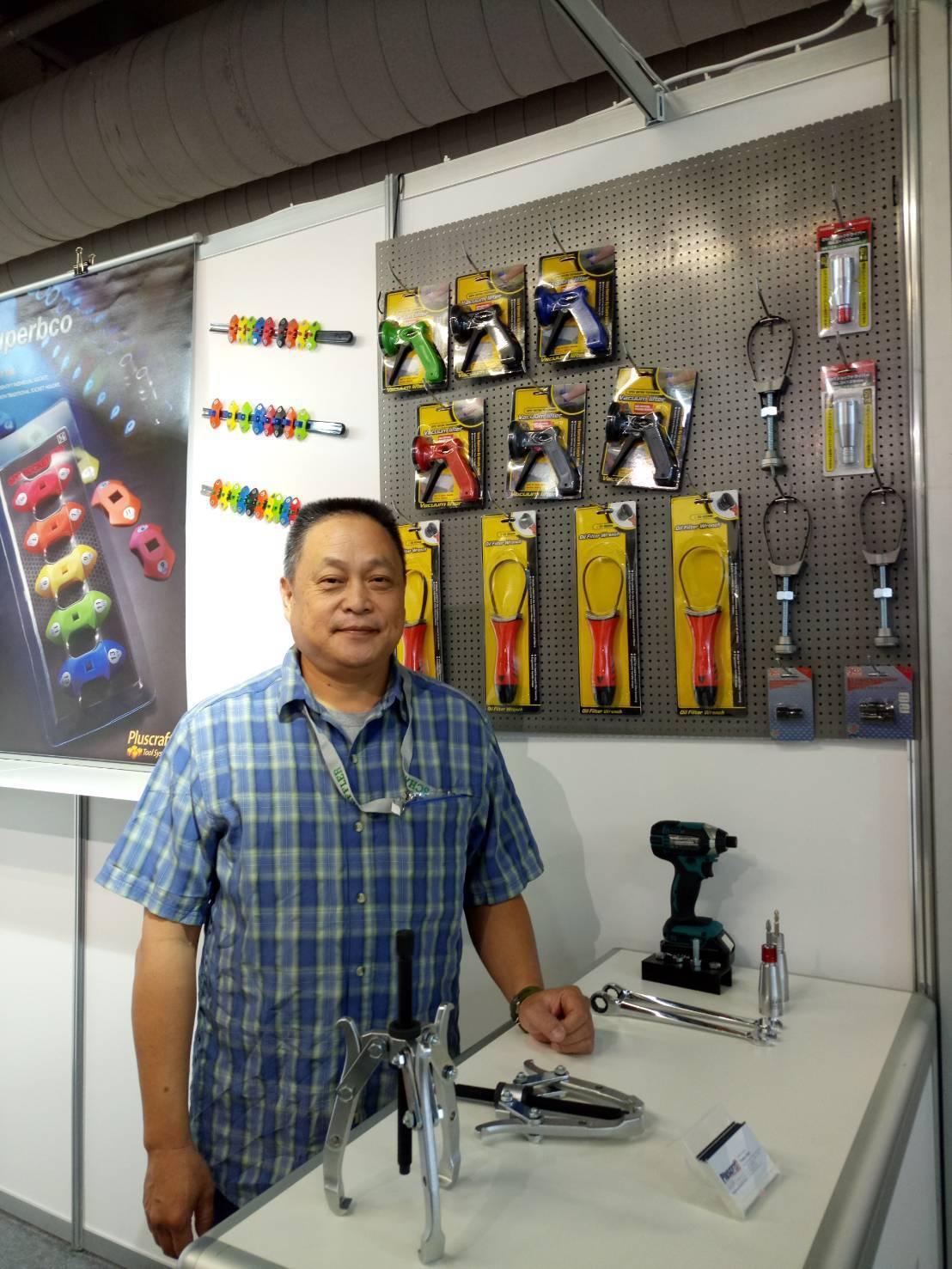 鑫爵實業總經理陳俯郎表示,今年新推出產品,國外買家反應良好。 郭芳伶/攝影