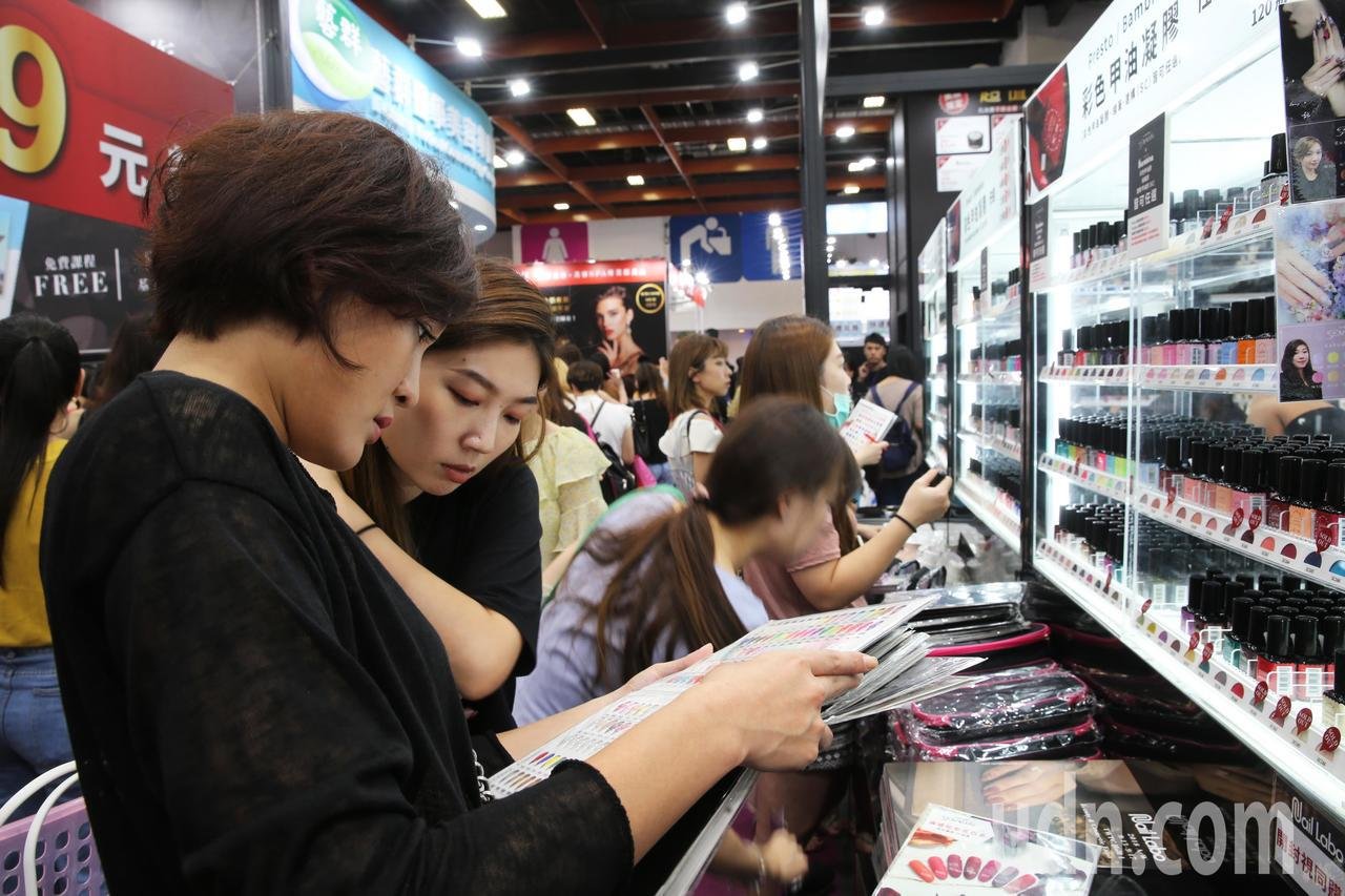 2018台北秋冬國際美容化妝品展,從今天起至9月17日在台北世貿一館展開。記者徐...