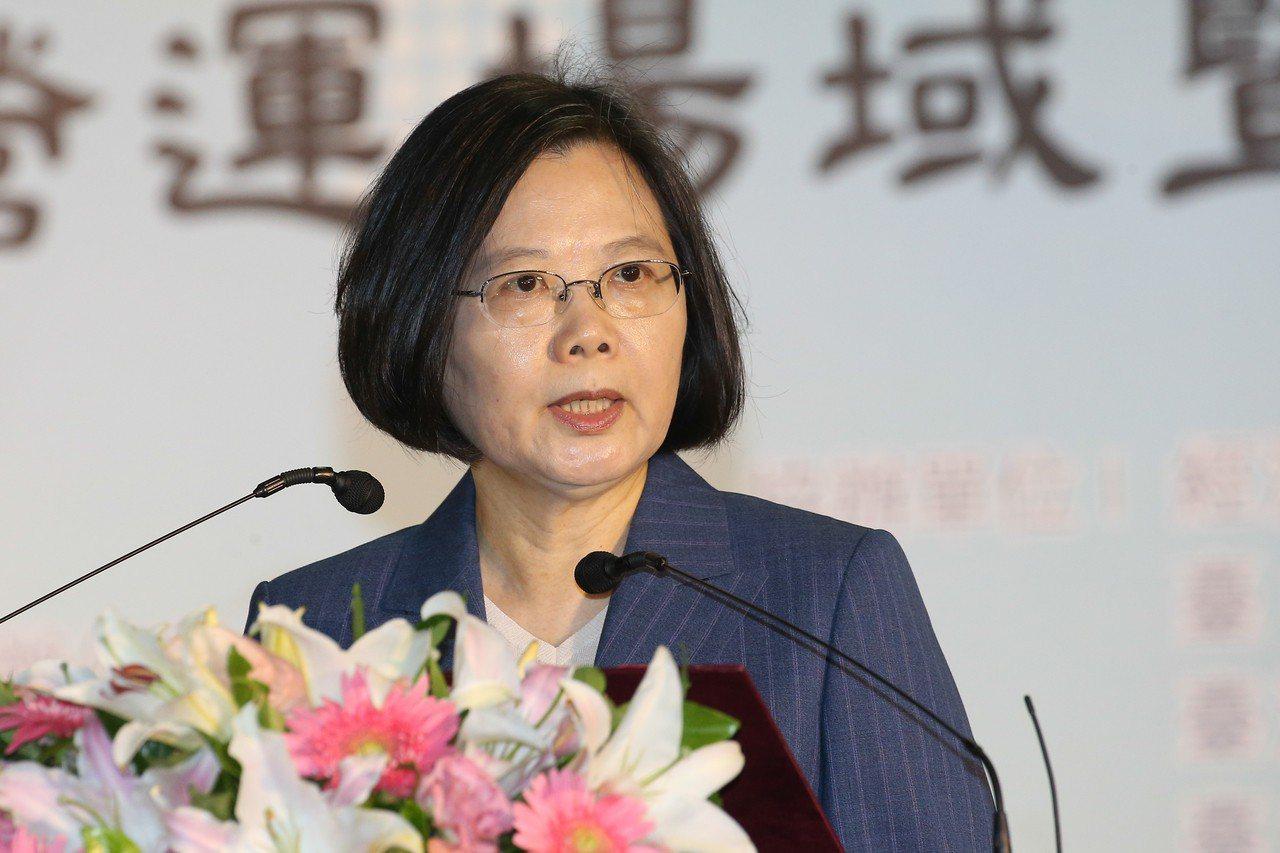 蔡英文總統。本報資料照片 記者黃仲裕/攝影