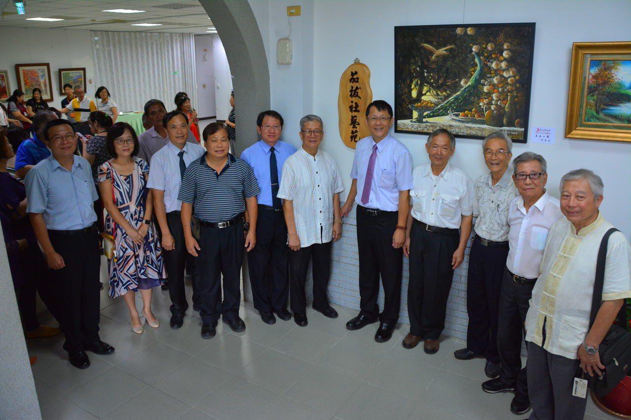 台南楠西區公所在辦公廳舍成立 「茄拔社藝苑」,邀請新化美術協會展出,84歲創會會...
